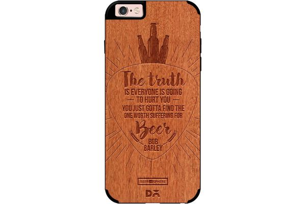Truth Is Beer Real Wood Red Chestnut Case For iPhone 6S