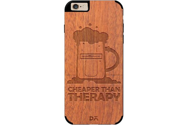 Beer Cheap Therapy Real Wood Sapele Case For iPhone 6