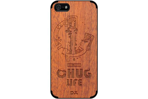 Beer Chug Life Real Wood Sapele Case For iPhone 5/5S