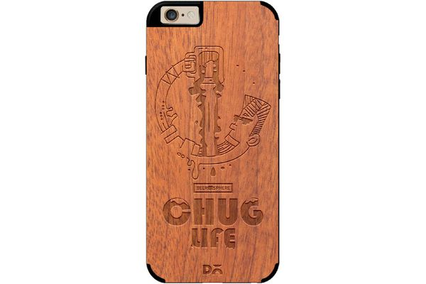 Beer Chug Life Real Wood Sapele Case For iPhone 6