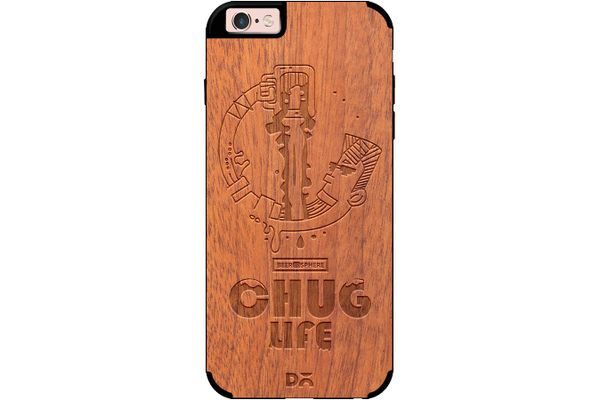 Beer Chug Life Real Wood Sapele Case For iPhone 6S