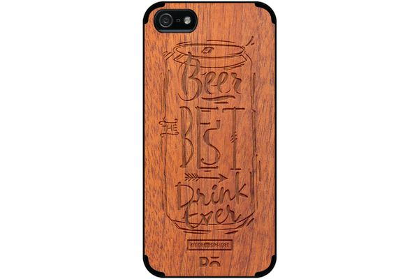 Beer Da Best Real Wood Sapele Case For iPhone 5/5S