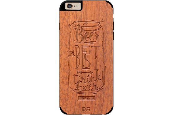 Beer Da Best Real Wood Sapele Case For iPhone 6