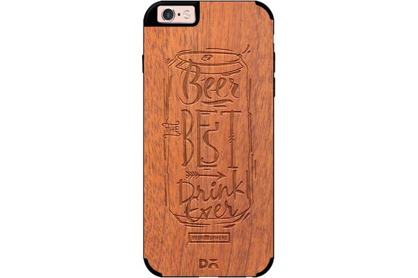 Beer Da Best Real Wood Sapele Case For iPhone 6S