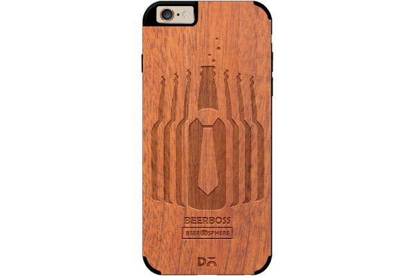 Beer Iz Boss Real Wood Sapele Case For iPhone 6