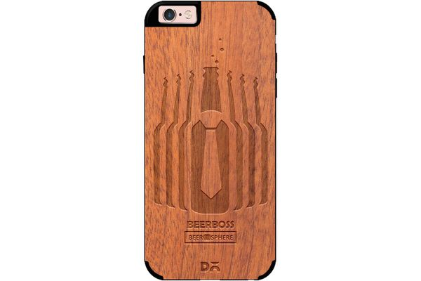 Beer Iz Boss Real Wood Sapele Case For iPhone 6S