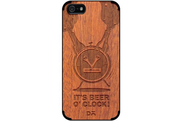 Beer O'Clock Froth Real Wood Sapele Case For iPhone 5/5S