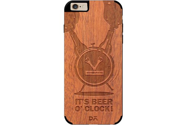 Beer O'Clock Froth Real Wood Sapele Case For iPhone 6