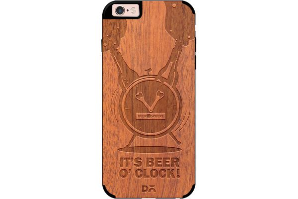 Beer O'Clock Froth Real Wood Sapele Case For iPhone 6S