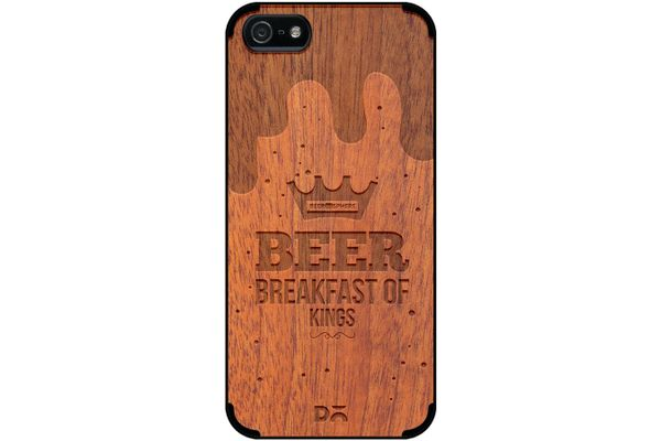 Beer BoK Real Wood Sapele Case For iPhone 5/5S