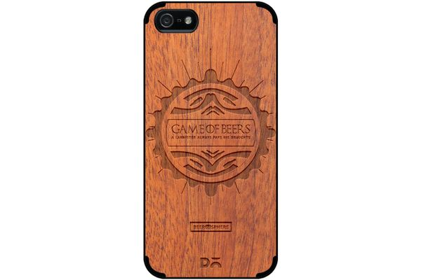 Beer GoT Real Wood Sapele Case For iPhone 5/5S