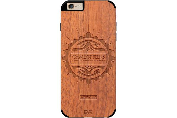 Beer GoT Real Wood Sapele Case For iPhone 6