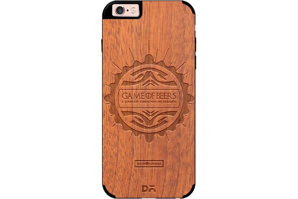 Beer GoT Real Wood Sapele Case For iPhone 6S