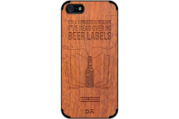 Beer Labels Real Wood Sapele Case For iPhone 5/5S
