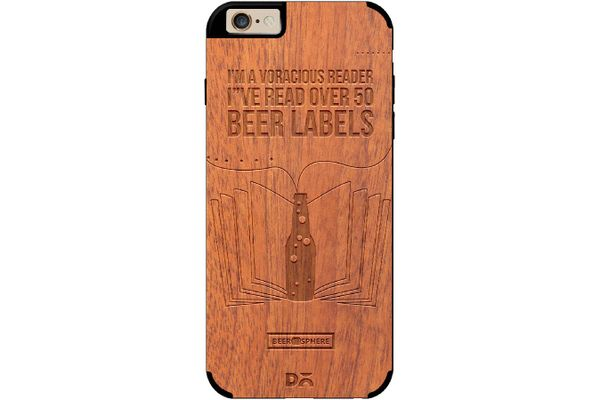 Beer Labels Real Wood Sapele Case For iPhone 6