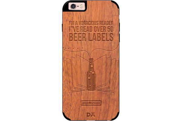 Beer Labels Real Wood Sapele Case For iPhone 6S
