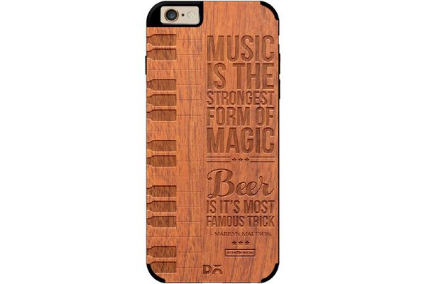 Beer Magic Real Wood Sapele Case For iPhone 6