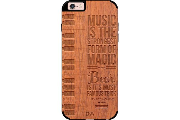 Beer Magic Real Wood Sapele Case For iPhone 6S