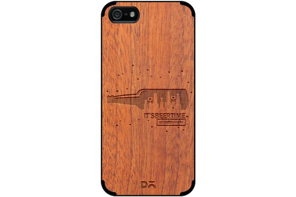 Beer O'Clock Real Wood Sapele Case For iPhone 5/5S