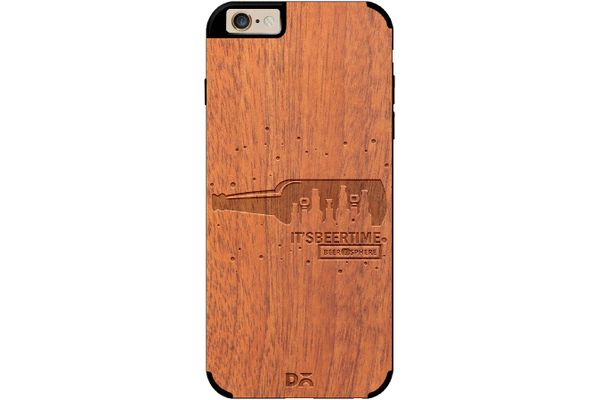 Beer O'Clock Real Wood Sapele Case For iPhone 6
