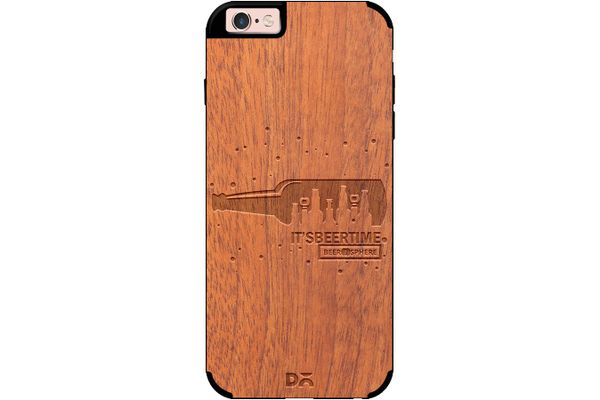 Beer O'Clock Real Wood Sapele Case For iPhone 6S