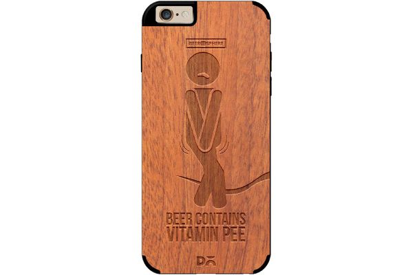 Beer Pressure Real Wood Sapele Case For iPhone 6