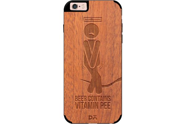 Beer Pressure Real Wood Sapele Case For iPhone 6S
