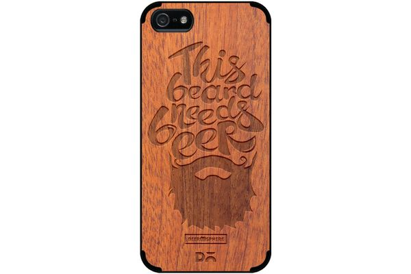 Beer Shampoo Real Wood Sapele Case For iPhone 5/5S