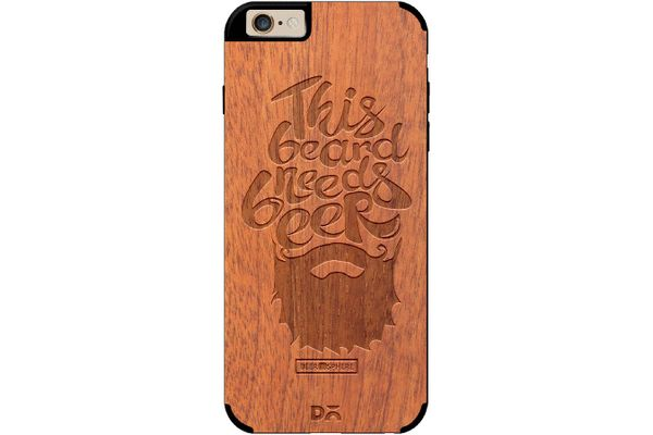 Beer Shampoo Real Wood Sapele Case For iPhone 6