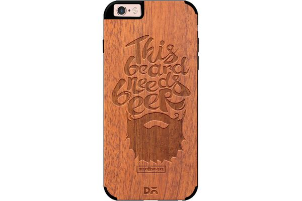 Beer Shampoo Real Wood Sapele Case For iPhone 6S