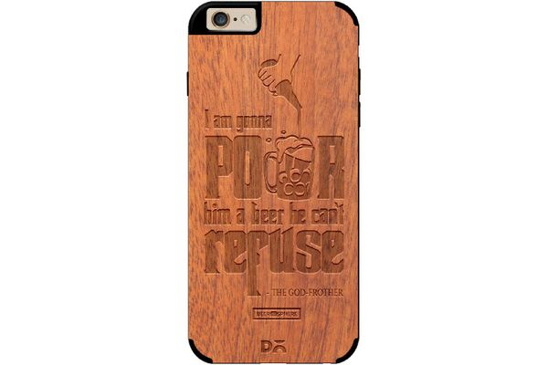 Cant Refuse Beer Real Wood Sapele Case For iPhone 6