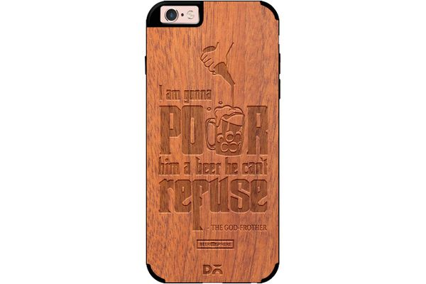 Cant Refuse Beer Real Wood Sapele Case For iPhone 6S