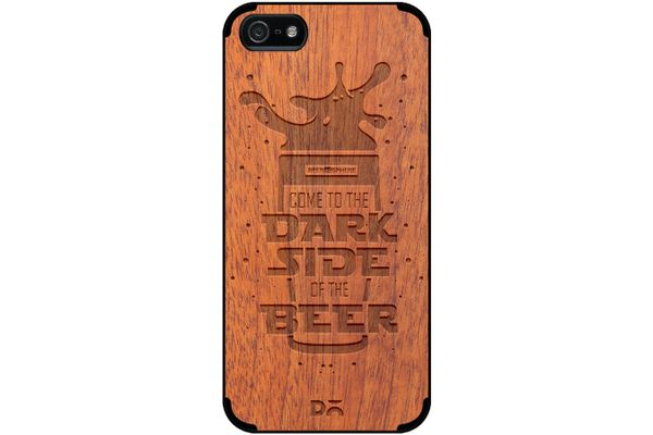 Dark Beer Rules Real Wood Sapele Case For iPhone 5/5S