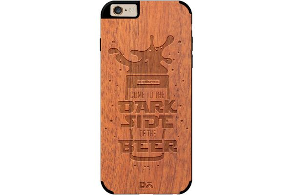 Dark Beer Rules Real Wood Sapele Case For iPhone 6