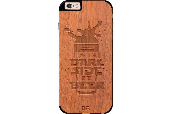 Dark Beer Rules Real Wood Sapele Case For iPhone 6S