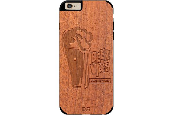 Dizzy Beer Vibes Real Wood Sapele Case For iPhone 6