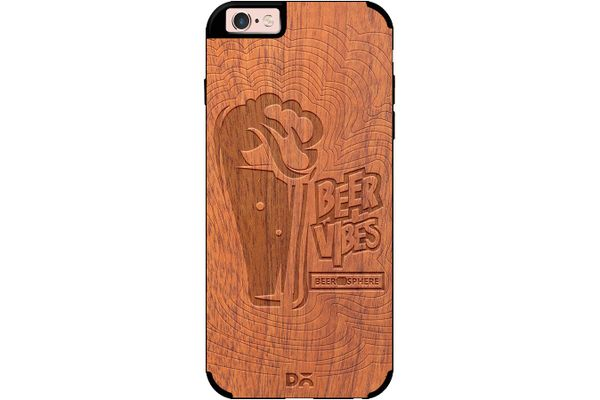Dizzy Beer Vibes Real Wood Sapele Case For iPhone 6S
