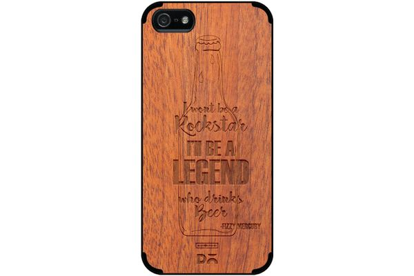 Legends of Beer Real Wood Sapele Case For iPhone 5/5S