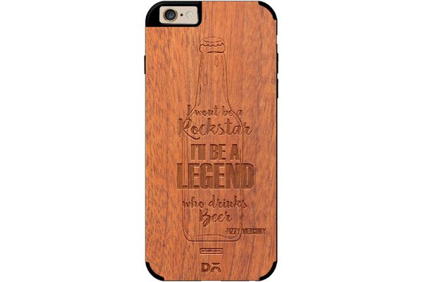 Legends of Beer Real Wood Sapele Case For iPhone 6