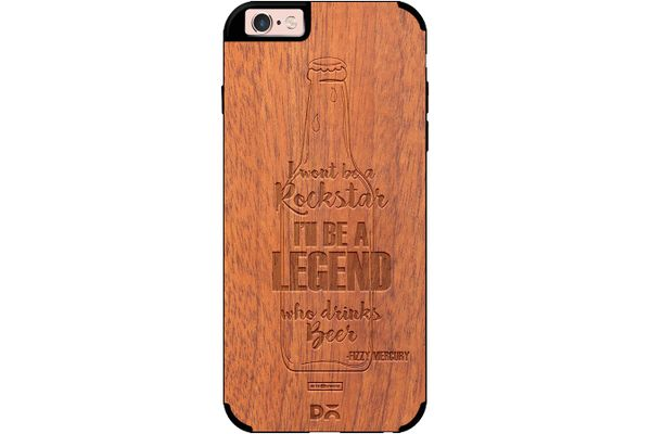 Legends of Beer Real Wood Sapele Case For iPhone 6S