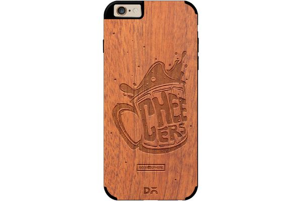 Life is BREWtiful Real Wood Sapele Case For iPhone 6
