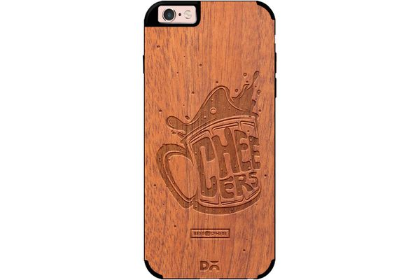 Life is BREWtiful Real Wood Sapele Case For iPhone 6S