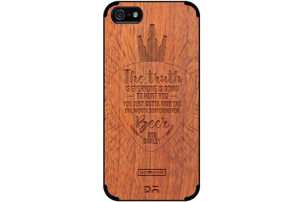 Truth Is Beer Real Wood Sapele Case For iPhone 5/5S