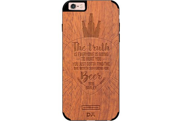 Truth Is Beer Real Wood Sapele Case For iPhone 6S