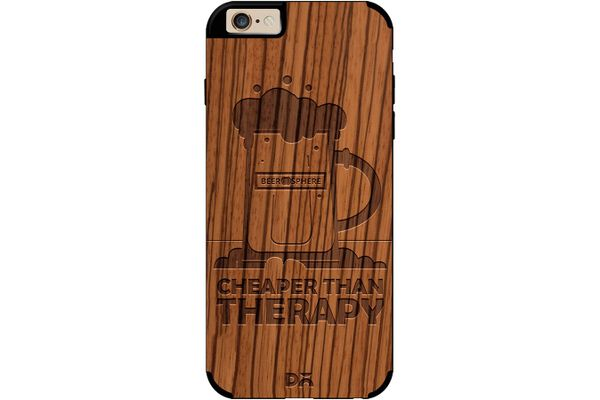 Beer Cheap Therapy Real Wood Zebra Case For iPhone 6