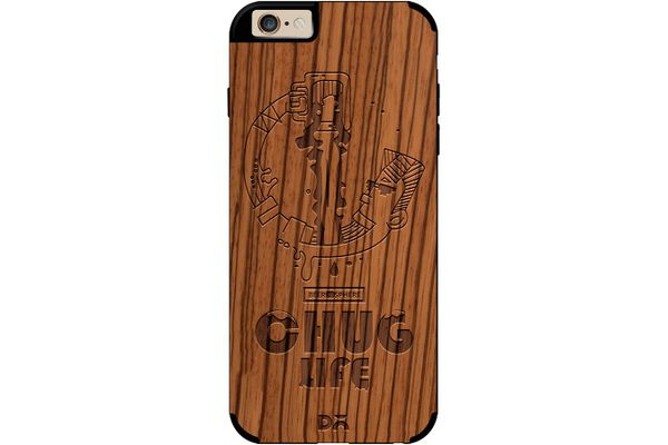 Beer Chug Life Real Wood Zebra Case For iPhone 6