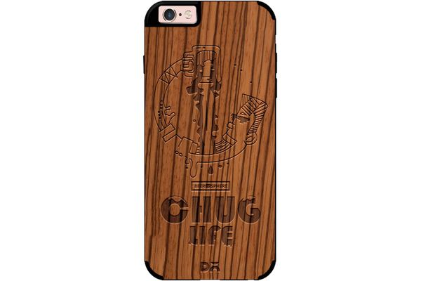 Beer Chug Life Real Wood Zebra Case For iPhone 6S