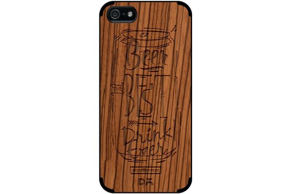 Beer Da Best Real Wood Zebra Case For iPhone 5/5S