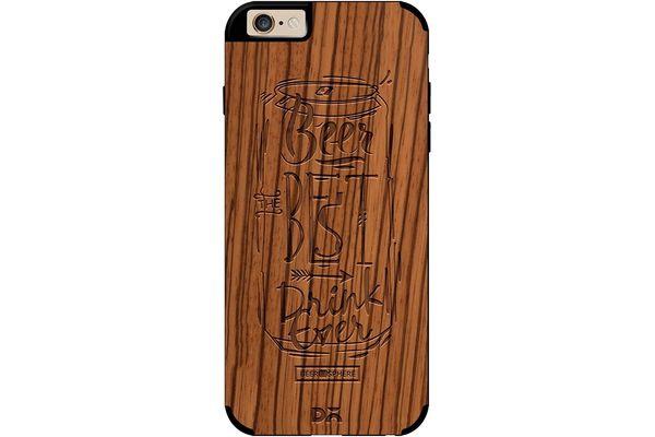 Beer Da Best Real Wood Zebra Case For iPhone 6