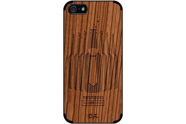 Beer Iz Boss Real Wood Zebra Case For iPhone 5/5S